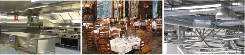 Küchenabluftreinigung in Gastronomie, Großküchen und Lebensmittelproduktion, Gastronomieabluft