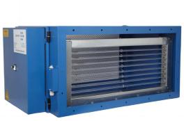 Die Kombination der elektrostatischen Abscheidung mit der UV-C Lichttechnik führt zu einer höchst effizienten Entfernung von Fett, Rauch und Gerüchen.